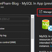 MySQL In App - Manage Database Content